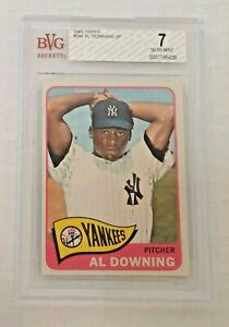 Vintage 1965 Topps Baseball Last Card #598 Al Downing Yankees SP BVG 7 NRMT MLB