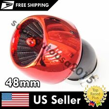 Thread Diameter 45 Degree 48mm Red Apple Shape Air Filter Cleaner for Auto Car