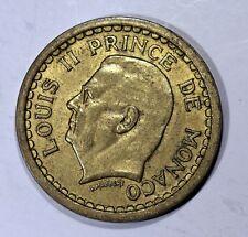Piece 1 Franc 1943 Monaco. Prince Louis II. Cuivre-Alu    KM120a  AB07