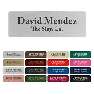 "Custom Engraved Nametag, ID Badge. Photo Frame Label - Personalized - 1"" x 3"""