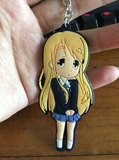 K-ON Yellow hair girl silica gel key chain key chains pendant 1pcs