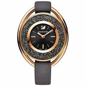 Swarovski Crystalline Oval Black 5230943 Damen Armbanduhr Edelstahl Neu und Ovp