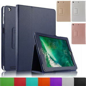 "Leather Flip Stand Folio Case Cover for Apple iPad Air/Air 2 9.7"" 5th & 6th Gen"