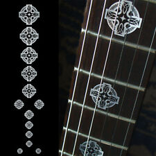 Celtic Cross Metallic Guitar Fret board Markers Inlay stickers