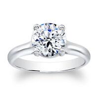 2.00 Karat Rund Diamant Verlobung Ringe für Damen 18K Echt Weißgold Größe M N O