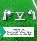 VITAVON CNC Alu7075 Front Sway Bar for Axial RBX10 Ryft 4WD Bouncer 1/10 Silver