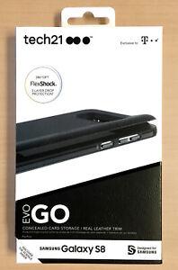 Samsung Galaxy S8 Case Leather Credit Card Case Evo Go Tech21  Black