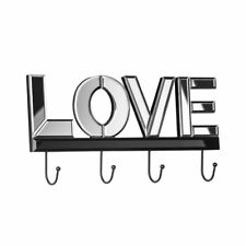 "Premier Housewares Gancio a parete, ""Love"" con specchio, 4 Ganci"
