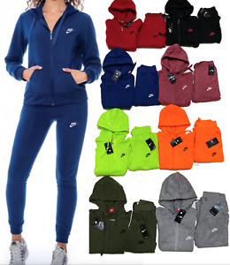 NIKE SWEATSUIT SET ZIP UP HOODIE AND JOGGER FAST HOODED TRACK SUIT WOMANS