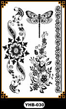 Black Dragonfly bracelet Henna Lace Body Hand Hair Stencil Temporary Tattoo