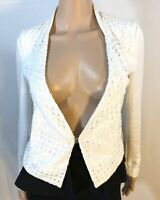 W118 by Walter Baker Womens Jacket Blazer Suit White Size XS