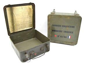 French Army First Aid Box Metal Storage Box Tool Box Tin Used Military Surplus