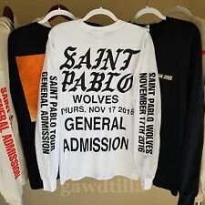 Official Kanye West Saint Pablo Tour Long Sleeve White Shirt Large Kylie Jenner