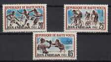 HAUTE ALTO VOLTA 3 VALORI Giochi Africani 1962 Abidjan YVERT 104-6  MNH**