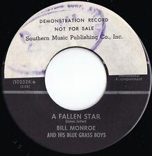Bill Monroe & Blue Grass Boys ORIG US Promo 45 A fallen star EX '57 Country