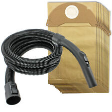 2m Hose Handle + 10 Bags for KARCHER WD2 WD2.200 WD2.240 WD2024 WD2064 WD2200