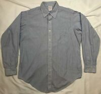 Vtg Brooks Brothers Makers Mens Striped L/S Button Down Dress Shirt Sz 16 1/2 B3