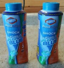 2 Clorox Pool & Spa Shock XtraBlue 6-in-1 Formula Kills Algae - 2 Lbs Total