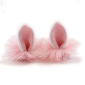 PAWSTAR Clip in Bunny Ears - Furry Rabbit Cosplay Halloween Costume Deer 3224