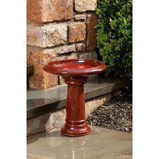Alfresco Home Ischia Ceramic Bird Bath - Island Red