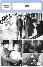 FICHE CINEMA : LES GRANDES ANNEES : 1936 - Belle Equipe,Crime de M.Lange,Furie
