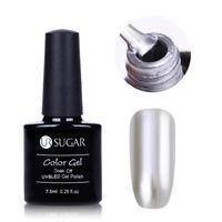7.5ml UR SUGAR Silber Soak Off UV Gellack Metallic Mirror Nagel Polish Nail Art