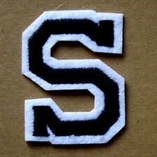 Letter S Patch Alphabet  Iron Sew On Applique Badge Motif