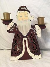 Partylite Old St Nick Candle Holder P7706