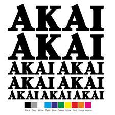 AKAI Vinyl Decal Sheet Sticker Motorcycle Graphic Set Logo Adhesive Kit 9 pcs