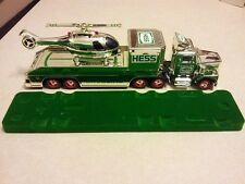 HESS* 1995* CHROME* TRUCK* AND* HELICOPTER* RARE*  AWESOME* CONDITION*
