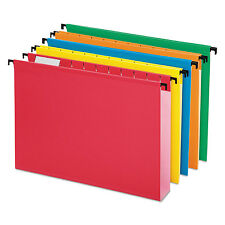"""Pendaflex Poly Laminate Hanging Folders 1/5 Tab 2"""" Expansion Letter Assorted 20"""