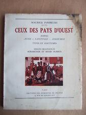 M. FOMBEURE. CEUX DES PAYS D'OUEST POITOU AUNIS SAINTONGE ANGOUMOIS 1943 PLISSON