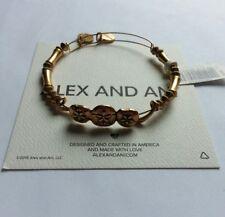 Alex and Ani Sand Dollar Wrap Bangle Bracelet NWT BOX/BAG Gold Horizontal Rare