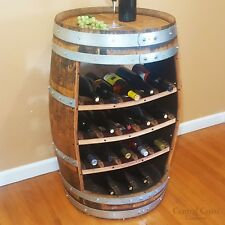 WINE BARREL Wine Rack 18 Bottle Rustic Furniture Home Decor FREE SHIPPING!