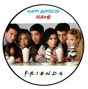 Friends Edible Image personalised icing cake topper birthday decoration round