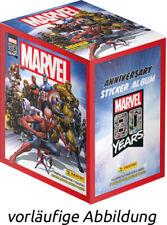 Panini 80 Jahre Marvel Sticker & Cards 1 x Display 36 Stickertüten