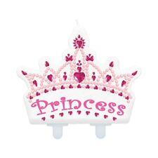 Candela Corona Princess Principessa per Torta Rosa 10x8 5h