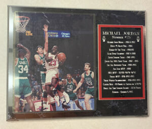MICHAEL JORDAN @ 1993 1st Basketball Retirement Plaque @ UNOPENED SEALED @ MJ 23