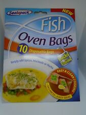 SealAPack Fish Oven Bags - 10 Disposable Bags - No Mess, Easy Seal