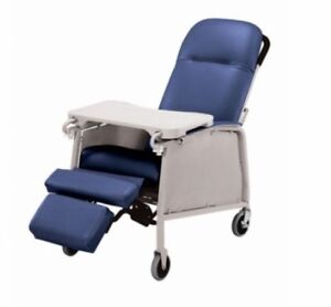 NEW Lumex 574G Three 3 Position Recliner Geri Chair Royal Blue # 574G427
