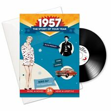 61st Anniversary or Birthday gifts ~ Booklet , Music & Card; 1957 in one present