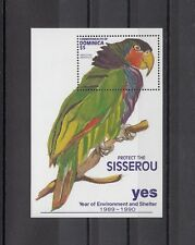 TIMBRE STAMP BLOC ILE DOMINICA Y&T#165 OISEAU PERROQUET NEUF**/MNH-MINT 1990~A91