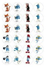 24 x Smurfs Edible Image Cupcake Toppers Pre-Cut