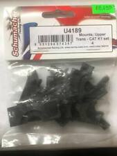 SCHUMACHER RACING U4189 MOUNTS:UPPER TRANS-CAT K1 SET 4 FOR RC CAR 1:10TH BUGGY