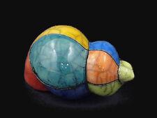Raku Art Spiral Shell - South African Handmade Pottery