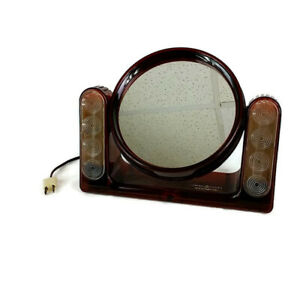 Vtg General Electric 2 Sided Light Up Makeup Mirror The Looking Glass Magnifier