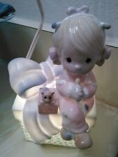 """Precious Moments Child'S Nightlight """"May Your Christmas Be Delightful"""" 1991"""