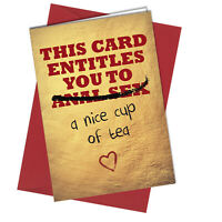 Valentines Card / Birthday Card An*l Sex cup of tea / Love / Rude / Funny #881