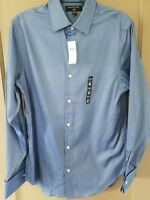 Banana Republic  Non Iron Slim Fit M Dress Shirt NWT $64.99 15 -15.5 33-34 blue