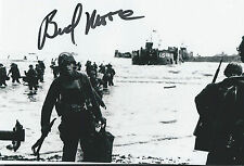 "Walter /""Bud/"" Moore 4x6 signed photo Nascar Car Owner and WWII D-day vet"